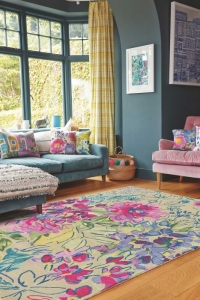 Bluebellgray Ines Jardin - Beige rug with abstract floral design