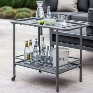 cast iron drinks trolley