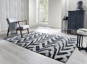 luxmi jazz black/grey abstract rug