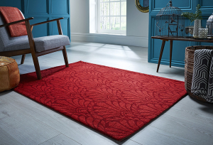 luxmi v&a rhapsody red rug