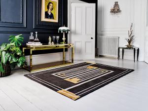 luxmi v&a moderne browne/ochre retro rug