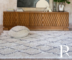 Moroccan room with Lorena Canals Woolable Berber rug