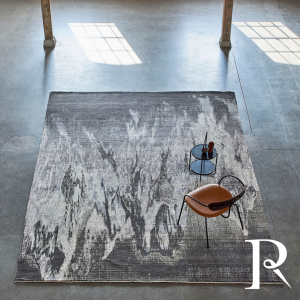 luxury abstract rug in grey and beige