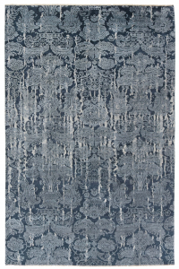 blue and grey oriental damask rug