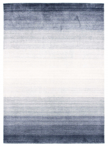 blue and white ombre rug