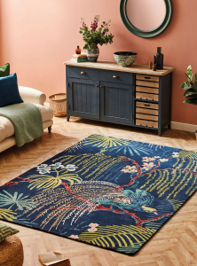 tropical interior style - sanderson rainforest rug