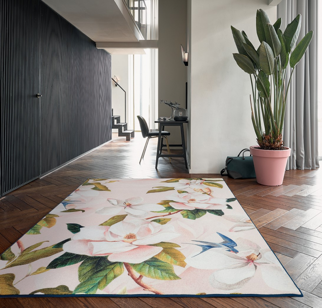 Large floral print rug from Ted Baker