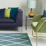 Albany Geometric Diamond Teal Rug