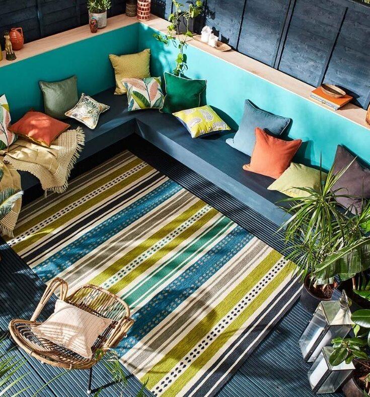 Colourful Scion outdoor rug
