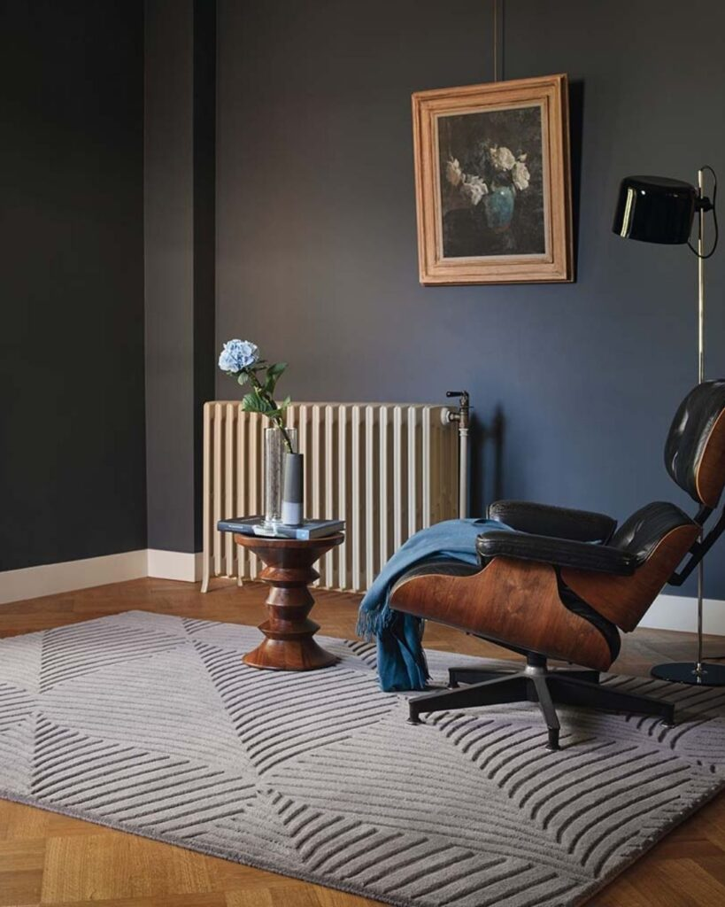 Wedgwood Folia Grey Wool Rug