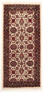 Authentic persian rug with a traditional design in red and beige