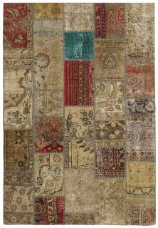 Persian rug with a patchwork design