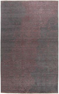 purple oriental rug with a damask pattern