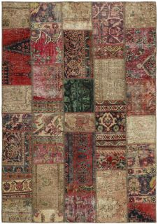 Authentic persian kelim flatweave rug with traditional geometric design in blue, red and cream