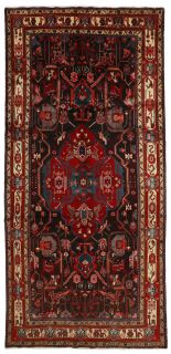 Authentic red patchwork persian runner