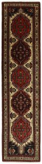 Large Persian runner with red traditional floral design