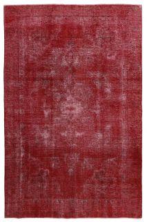 red vintage persian rug