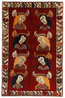 multicolour persian rug with figural design