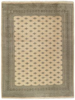 beige oriental rug with traditional pattern