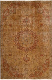 orange vintage persian rug