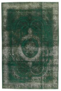 green vintage persian rug