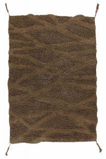 textured brown area rug