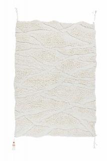textured cream area rug