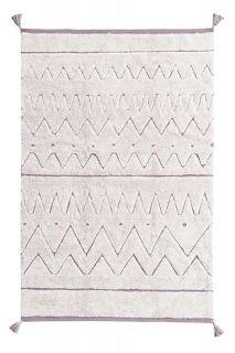 natural aztec print childrens rug