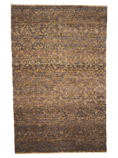 Authentic oriental rug with a damask pattern in brown