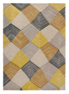 Rectangular grey rug with wavy abstract pattern in white viscose