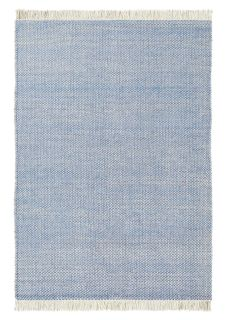 brink and campman flatweave with a blue woven design