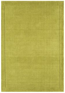 York Green Plain Rug