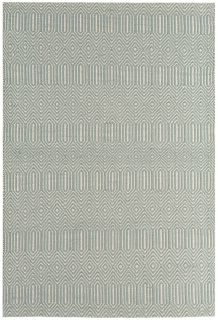 duck egg blue and white woven rug with aztec chevron pattern