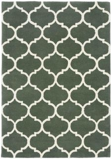 ogee green geometric rug with an ogee pattern