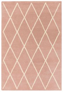 pink geometric rug with a moroccan berber design