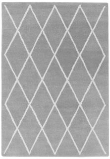 silver grey geometric rug with a moroccan berber design