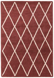 berry red geometric rug with a moroccan berber design