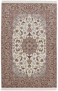 beige persian rug with traditional pattern