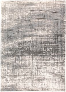 White flatweave rug with grey abstract pattern