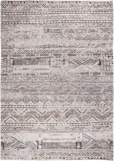 cream rug with a moroccan geometric pattern