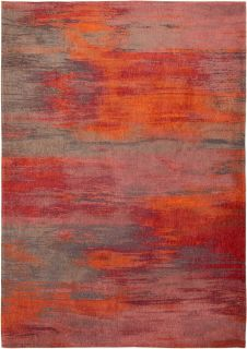 red, pink and orange abstract rug