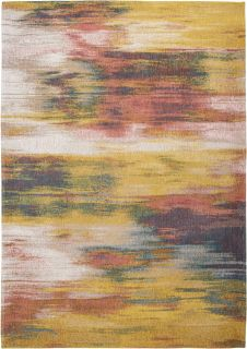 red, yellow and blue abstract rug