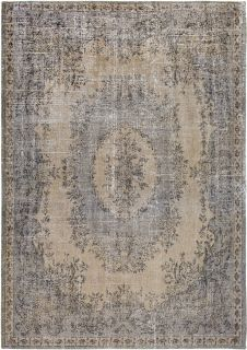 taupe brown vintage style rug with a traditional design