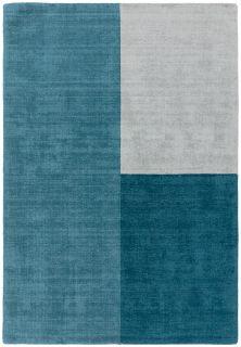 teal blue geometric rug