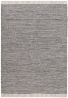 large plain grey flatweave rug