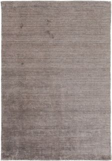 Plain brown viscose rug