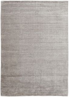 Plain grey viscose rug