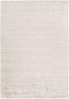Plain ivory viscose rug