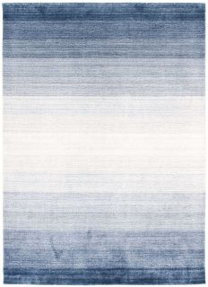 Large blue ombre rug