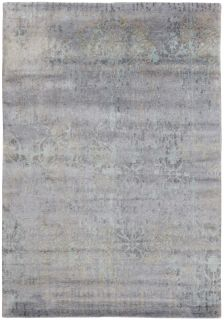 Area rug with abstract design in grey